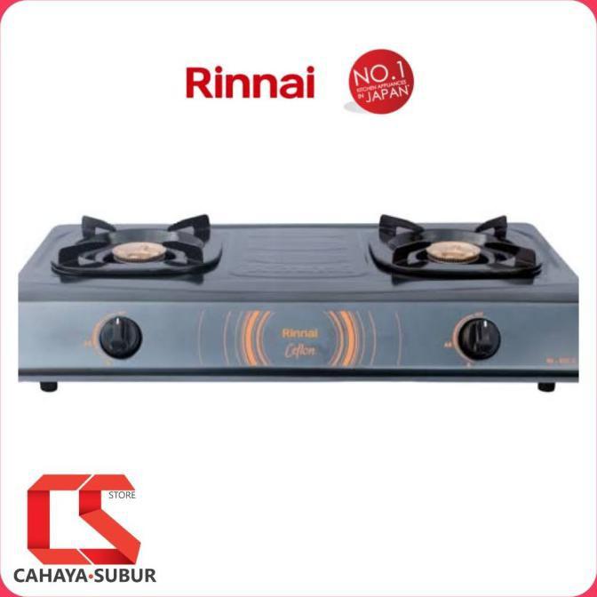 RINNAI Kompor 2 Tungku Rinnai Ceflon RI 522 C RInnai 522C