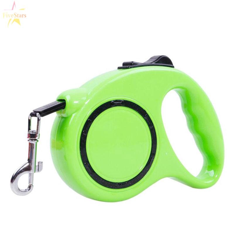3//5meters Long Retractable Dog Lead Tape Extendable Rope Leash For Pet Dog Cat #