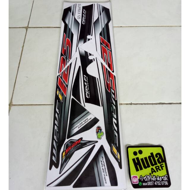 Striping Sticker Lis Variasi Motor Honda Supra X 125 Lama - Wave 125i   Shopee Indonesia