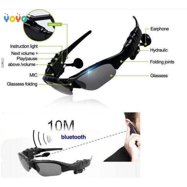 [Bayar Di Tempat]Kacamata Sunglasses Bluetooth Headset untuk iPhone | Shopee Indonesia