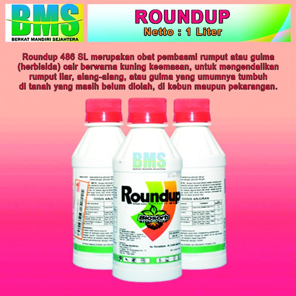 Racun Herbisida Pembasmi Rumput Dan Gulma Roundup 1ltr Daftar Gramoxone 276sl 1 Liter Liar