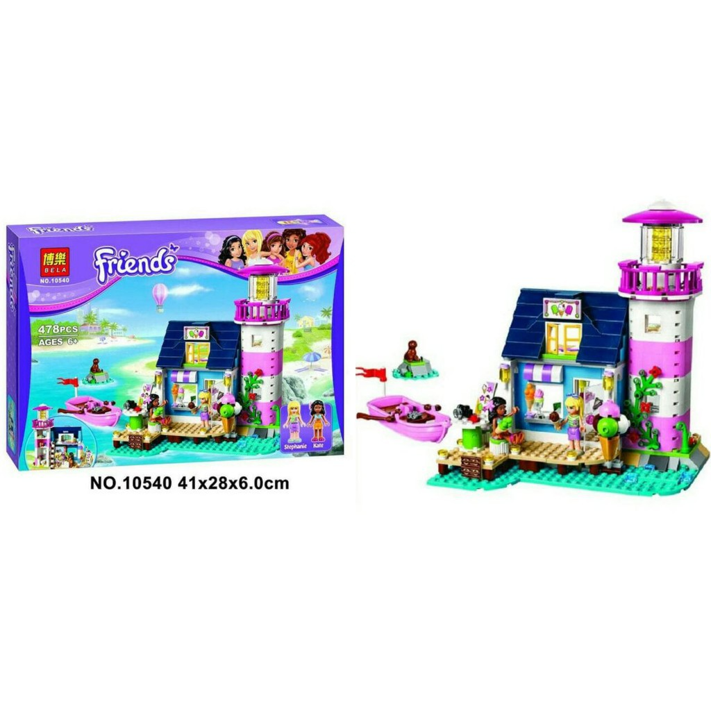 Mmtoys Lego Bela Friends 10540 478pcs Heartlake Lighthouse Shopee