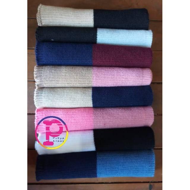 Inner bandana rajut 2 warna | ciput bandana rajut 2 warna | bandana two tone