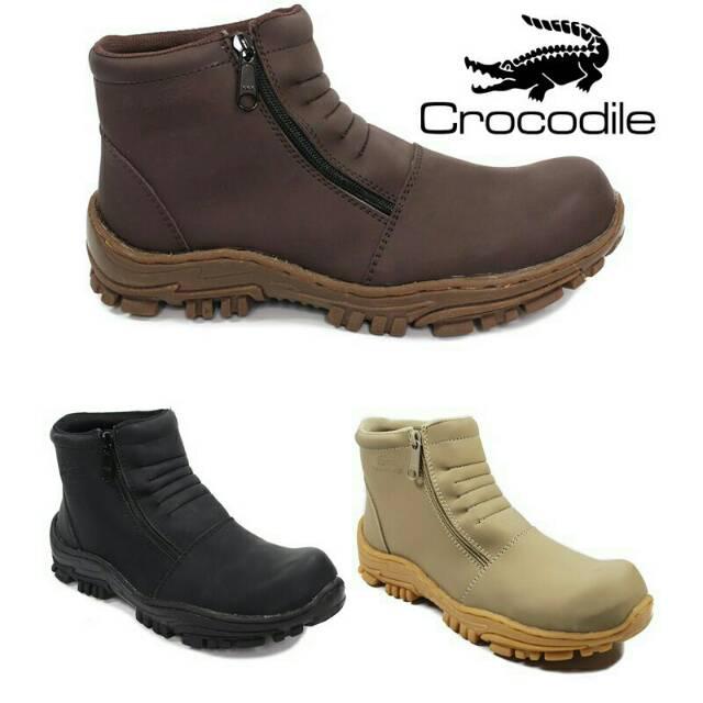 Sepatu boots pria crocodile armour safety delta touring tracking mountain  proyek kerja .SF  45b3a24c15