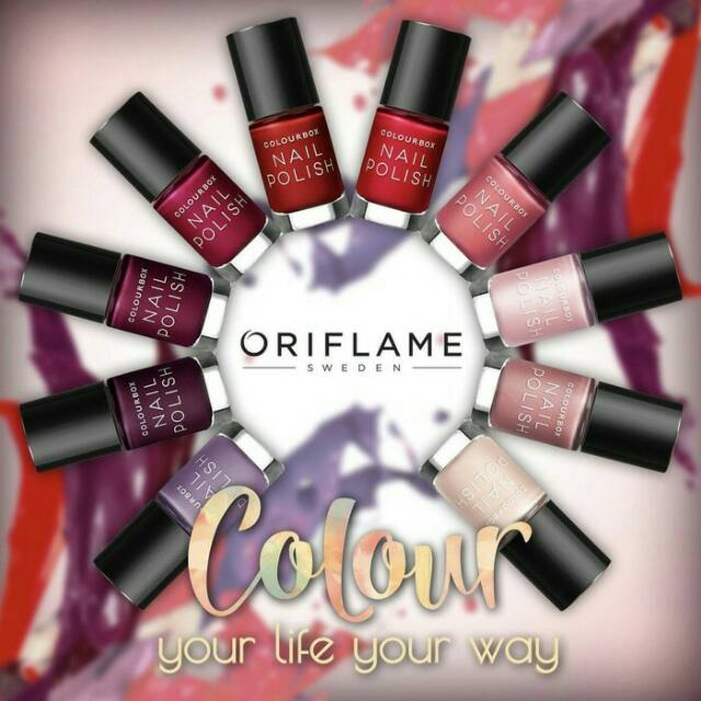 Colourbox Nail Polish Kutek Oriflame Asli Shopee Indonesia