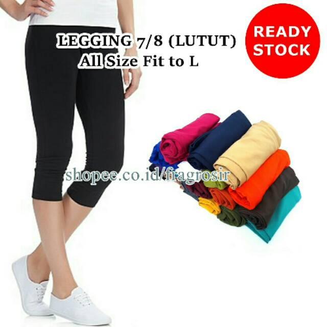 Celana Legging Pendek 7 8 Lutut Untuk Wanita Grosir Ecer Shopee Indonesia