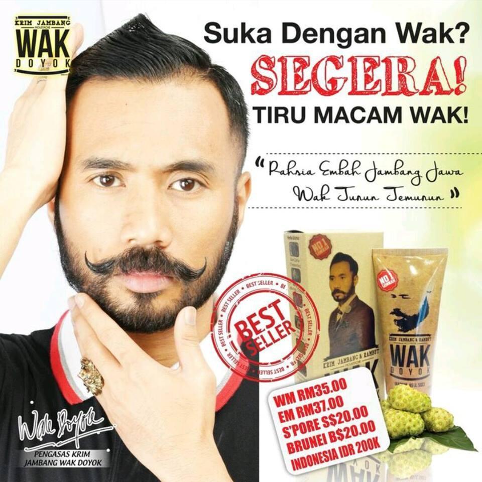 Krim Wak Doyok Original Wakdoyok Cream Asli Hologram Indonesia Obat Penumbuh Jenggot Jambang Brewok Kumis Alis Rambut Botak Shopee