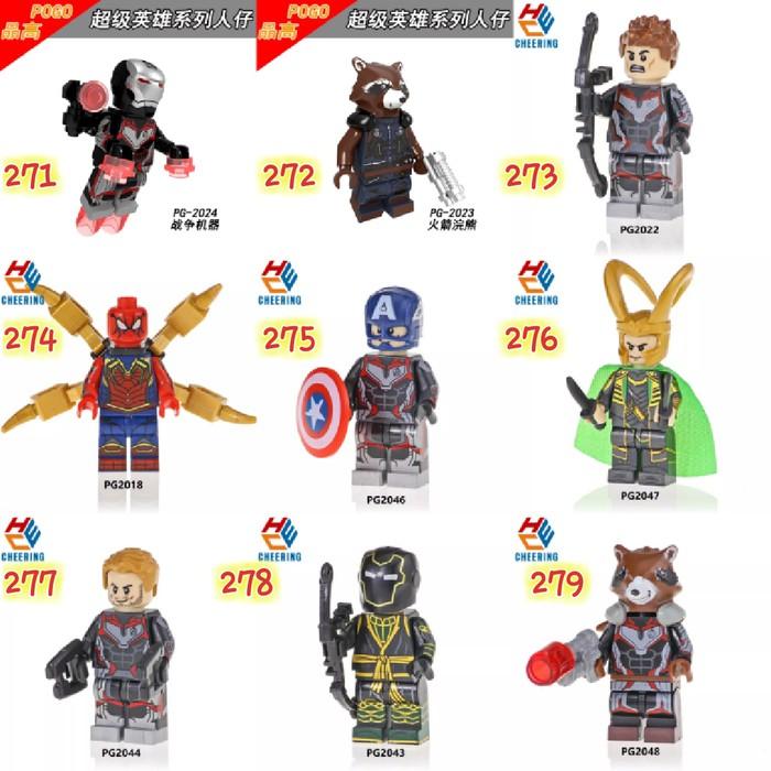 8Pcs Marvel Averagers DC Super Hero Mini Figures Set Flash Deadpool