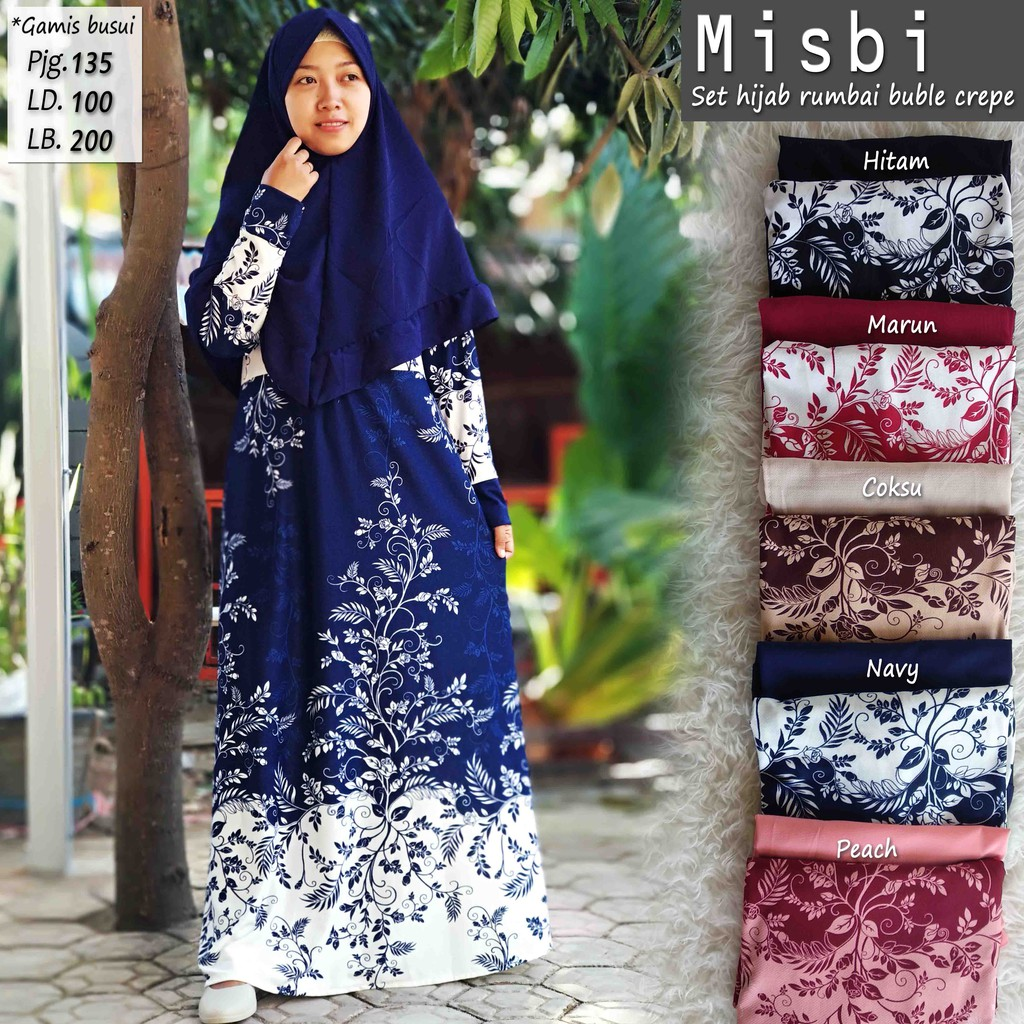 Harga Jual Gamis Misbi Polos Tebal Hitam Terbaru 2018 Kartu Flazz Bca Custom Isyana Signature Edition 4 Plus Hijab Buble Crepe Shopee Indonesia