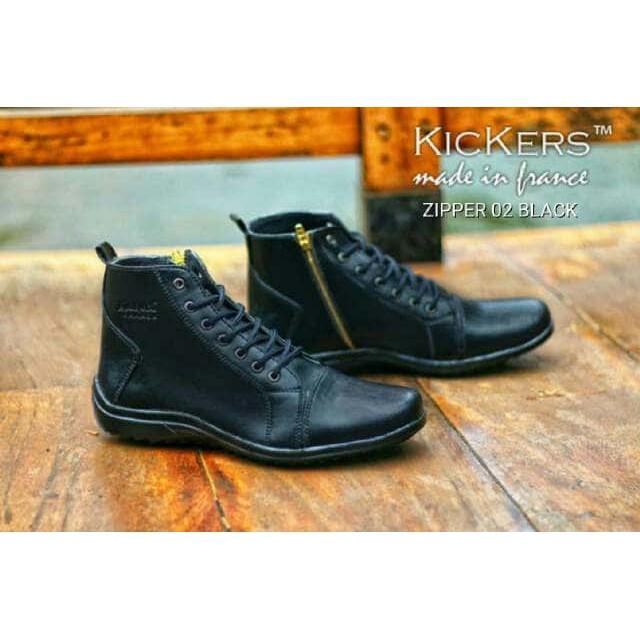 sepatu slip on kickers ello kulit asli original premium 3 warna 39 ... b640253098