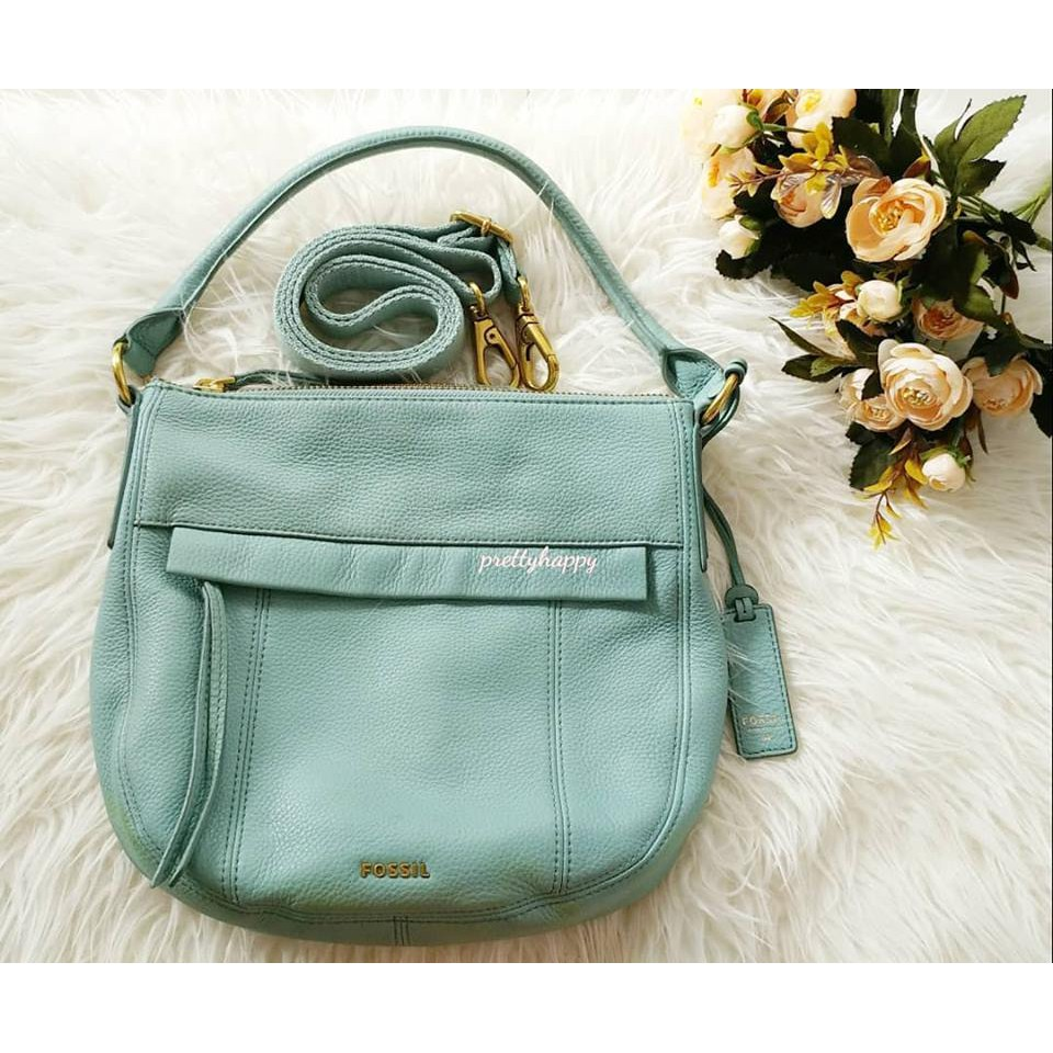 Promo Belanja Fossilvintage Online Desember 2018 Shopee Indonesia Fossil Emerson Satchel In Seaglass