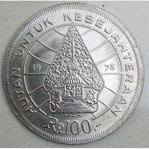 Gambar Uang Koin 100 China Uang Koin 100 Rupiah Tahun 1978 Nikel Gambar Wayang Shopee Indonesia