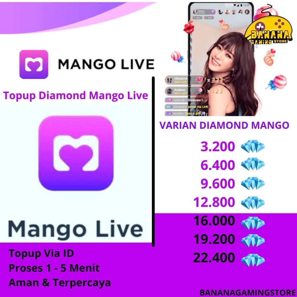 Mango Live - VIA ID! - Mango Live Diamond VIA ID - TopUp Mango - Diamond Mango Murah - Mango Live