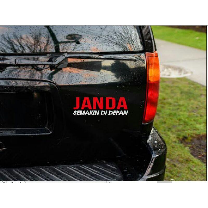 Stiker Janda Semakin Di Depan Kata Kalimat Tulisan Lucu Humor Truk Car Shopee Indonesia