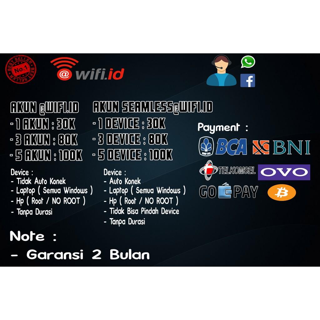Harga Akun Wifi Id Terbaik Belanja Voucher Maret 2021 Shopee Indonesia