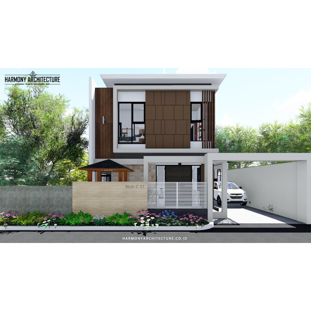 Desain Rumah Modern Minimalis 2 Lantai Lahan 10 X 14 Hook Shopee Indonesia