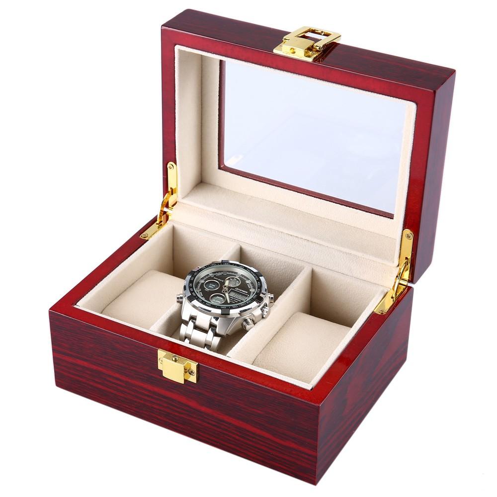 Watch Box Kotak Tempat Jam Tangan Jumbo Isi 20 Daftar Harga Coklat Full For Traveler Sport 3 Ew Display 6 Slot Bahan Kulit Pvc