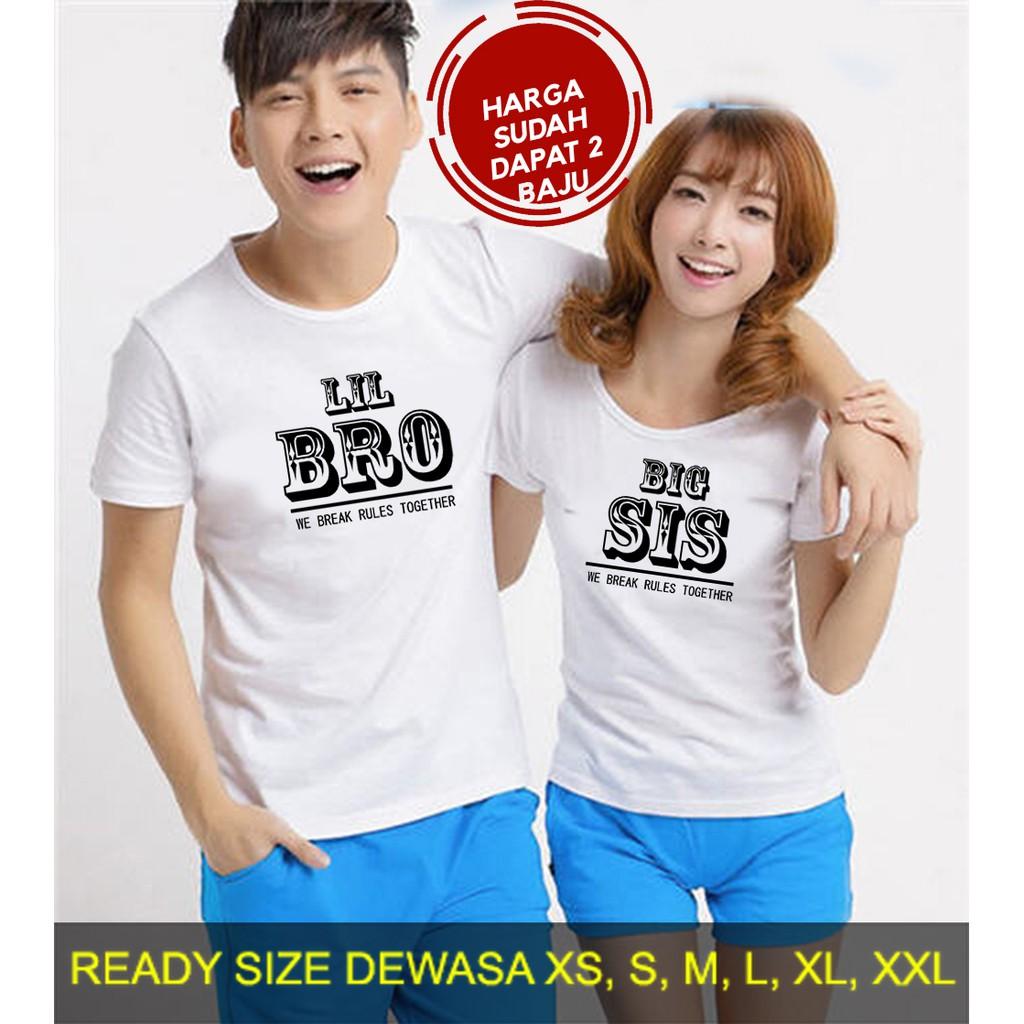 Butikonline83 - Kaos Couple - Baju Kapelan - Pakaian Cowok Cewek - Pria dan Wanita KG002