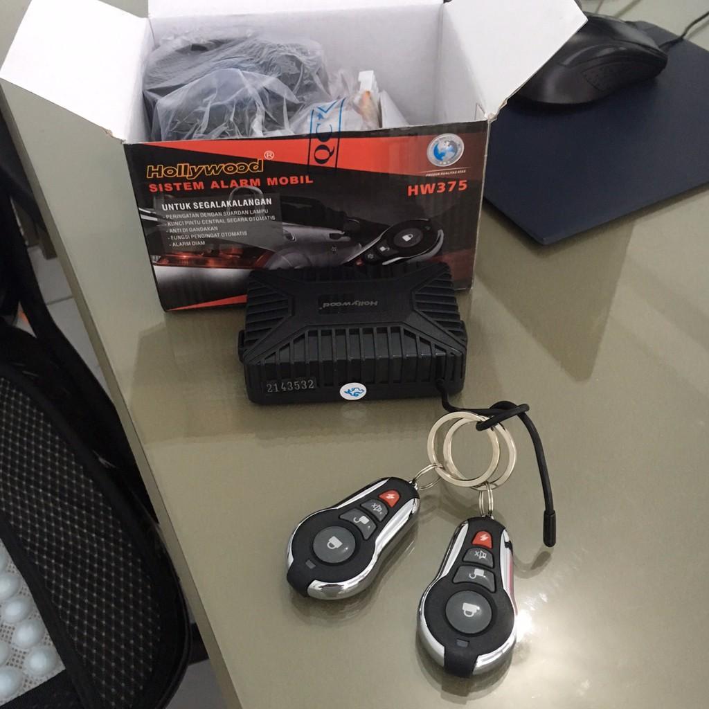 remote alarm merek hollywood / sistem alarm mobil universal / remote set mobil honda suzuki toyota   Shopee Indonesia