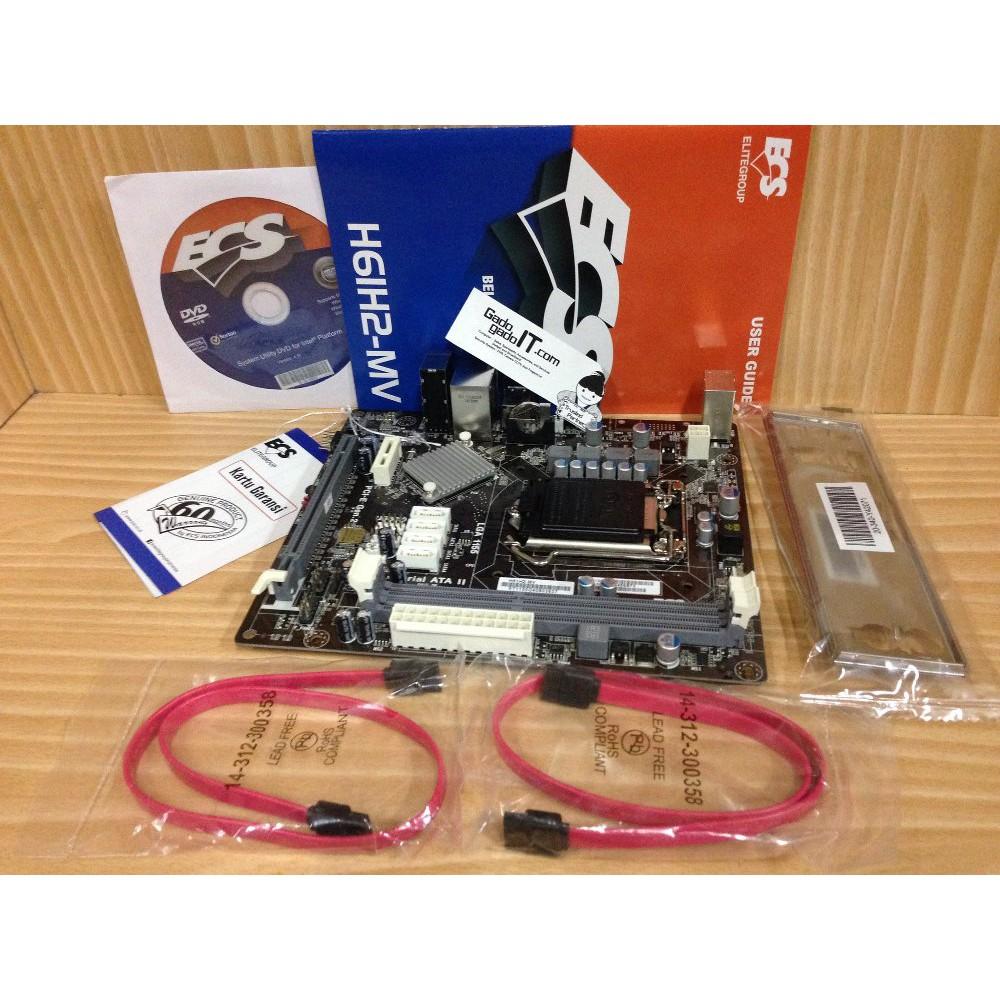 Promo Motherboard ECS H61H2-MV Socket 1155/LGA 1155