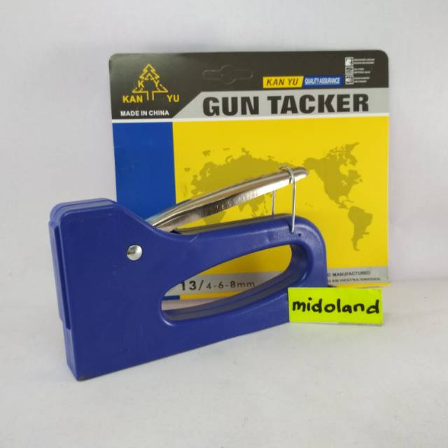 staple steples stapless tembak jok gun tacker heckter hektar 4 - 14 mm 4-14mm + isi visking | Shopee Indonesia