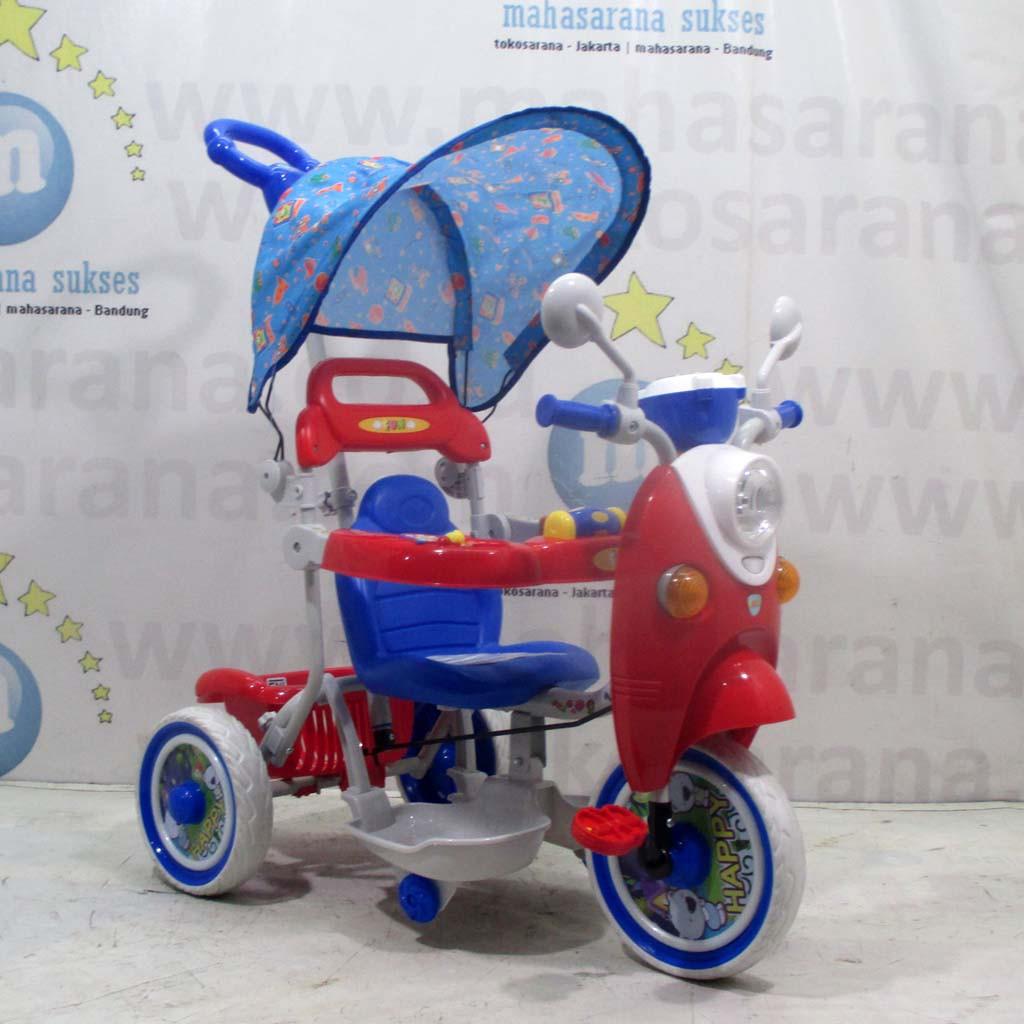 Sepeda Roda Tiga Anak Pmb T05 Ic Musik Scoopy 1 3 Tahun Lingkar Pengaman Besar Bisa Diatur Tricycle Shopee Indonesia