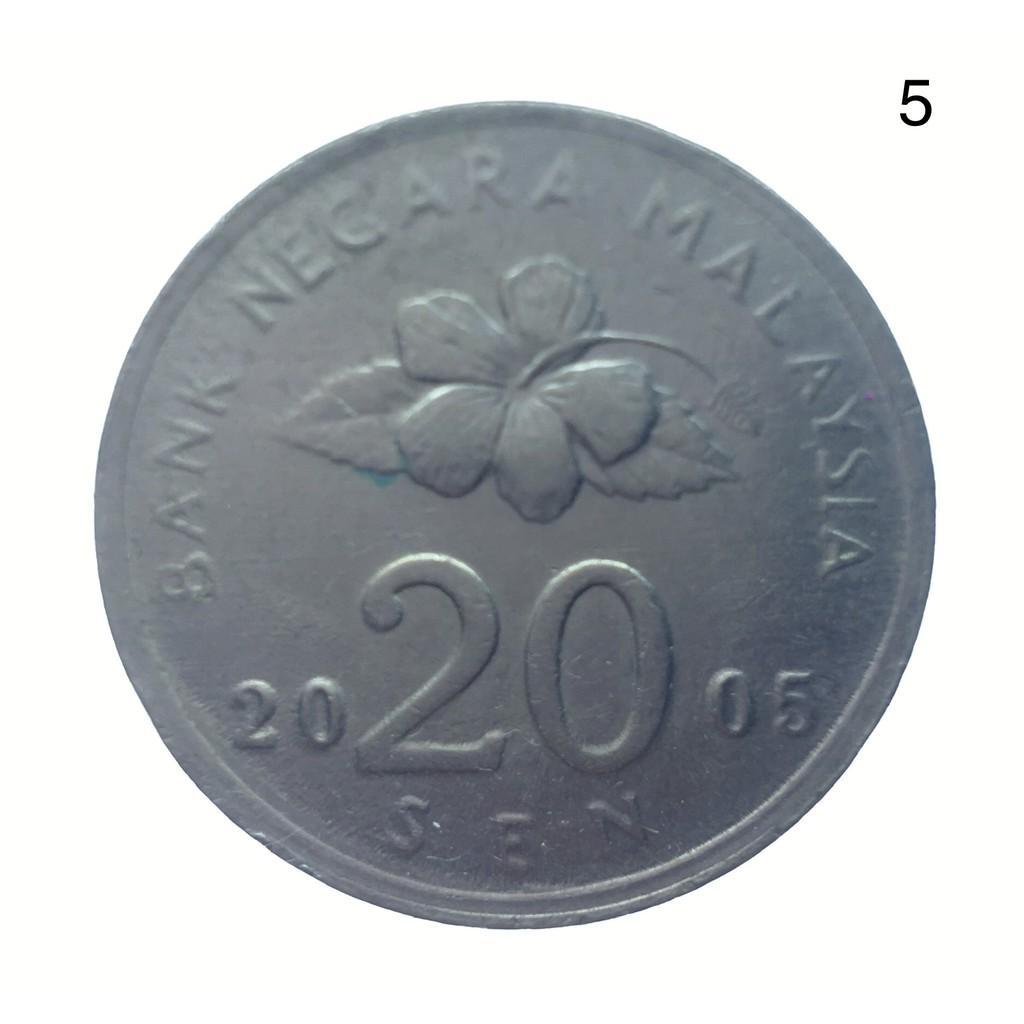 Koin Jadul Malaysia 2005 20 Sen - Agong