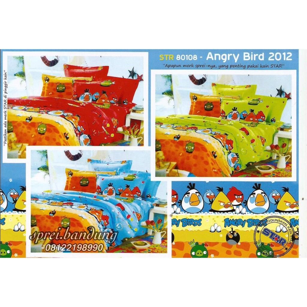 New Sprei Kids CVC Katun Premium Quality King Size 180 x 200 x 25 Lovina ANGRY