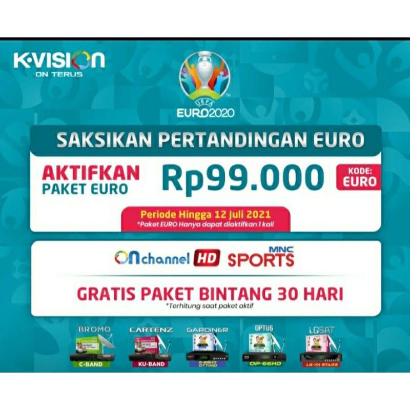 Voucher Paket K-Vision GOL KVision Special EURO Sampai Final