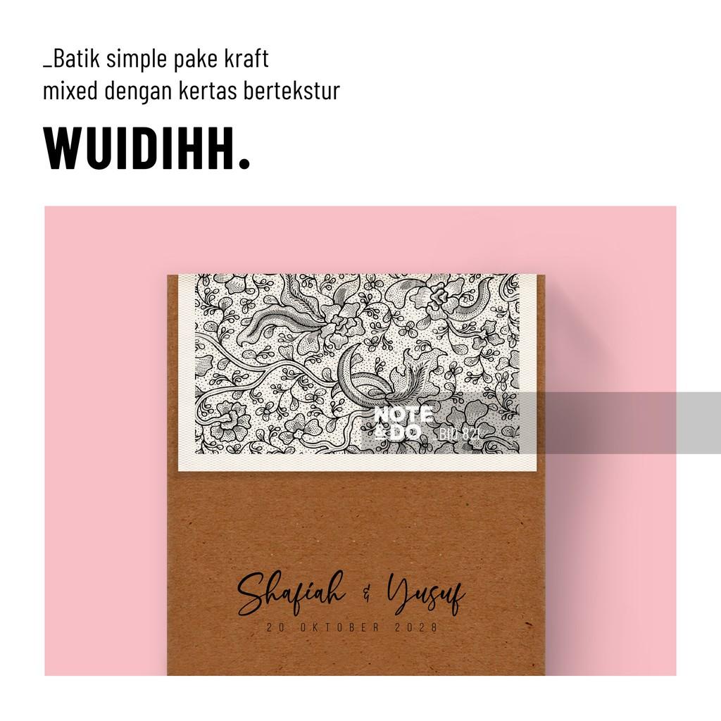 Undangan Pernikahan Kraft Batik BID821