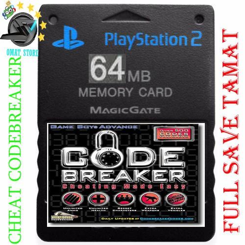 Memory Card PS2 64MB full save tamat & CHEAT GAME CODEBREAKER