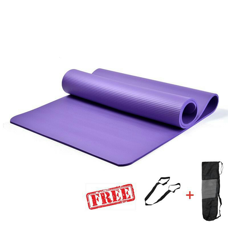 Techdoo 10mm Matras Yoga Tebal/ Yoga Mat Bahan NBR/ Yoga Matt Polo/ Alas