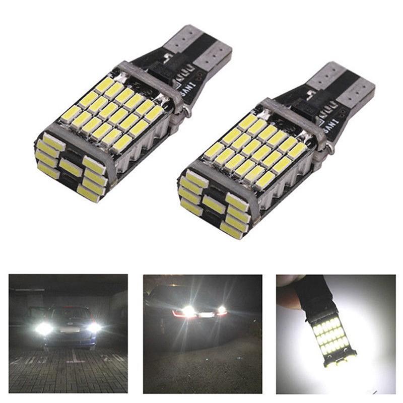 2x T15 W16W 45 SMD 4014 Error Free LED Cars Reverse Back Light Bulbs 6000K 12V