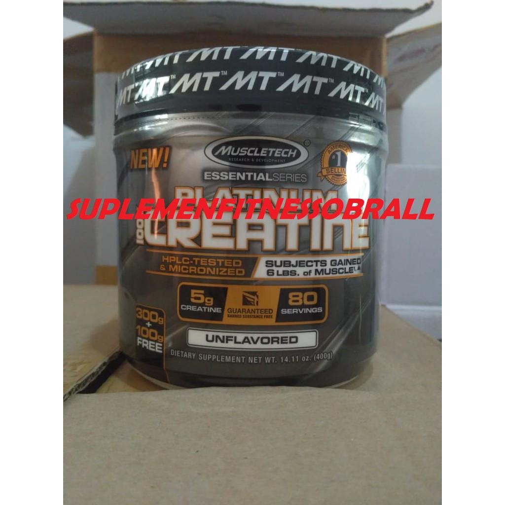 Platinum Creatine 400 Gram Muscletech Shopee Indonesia