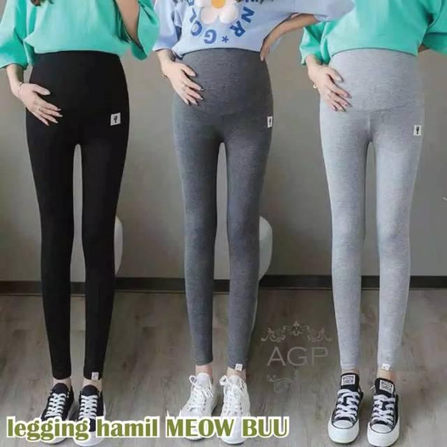 Legging Hamil Meow Buu Fit To S 3l Celana Hamil Import Legging Hamil Import Shopee Indonesia