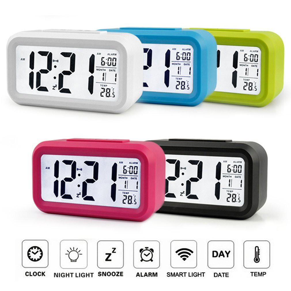 Jam Alarm Digital Elektronik Luminous dengan Kalender & Layar LCD untuk Meja Kantor   Shopee Indonesia