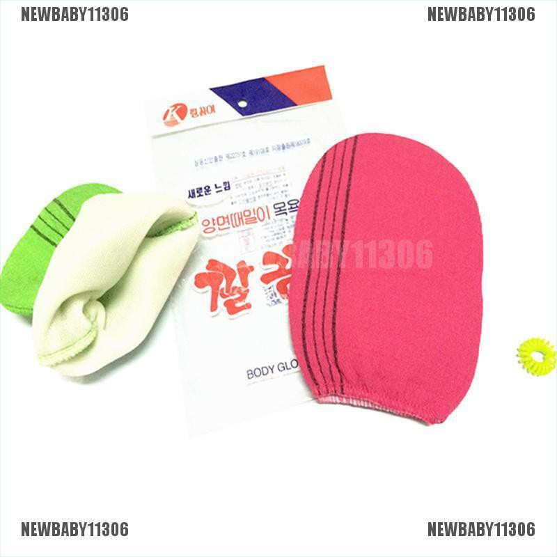 2 colors Korean Italy Exfoliating Body-Scrub Glove Towel Green Red A-L