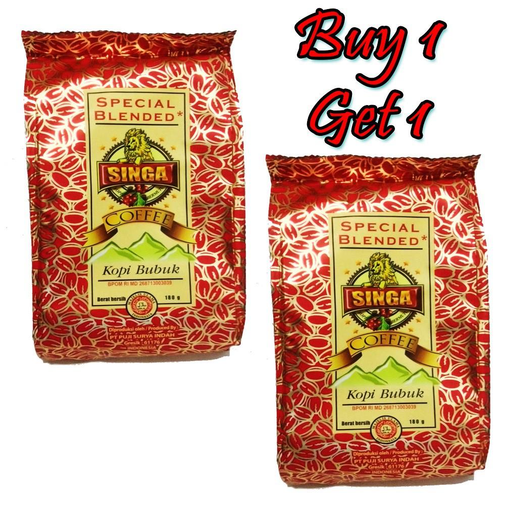 Singa Kopi Robusta 180gr Shopee Indonesia Arabika Gayo Natural Process 500 Gram Biji Dan Bubuk