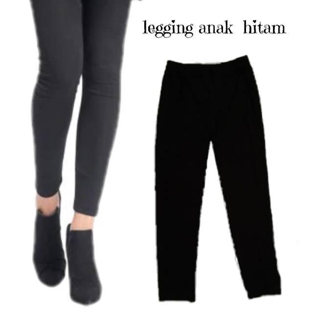 Legging Anak Perempuan Warna Hitam Polos Basic Legging Anak Shopee Indonesia
