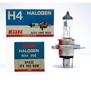 Bohlam Halogen H4 Hella 12V 100/90W P43t Lampu Mobil Made in Germany Original |