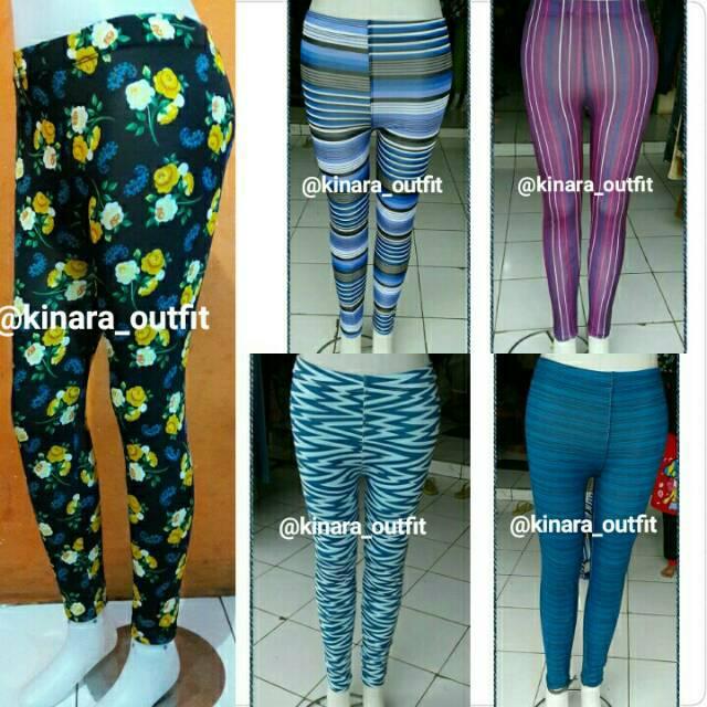 Celana Legging Motif Motif Shopee Indonesia