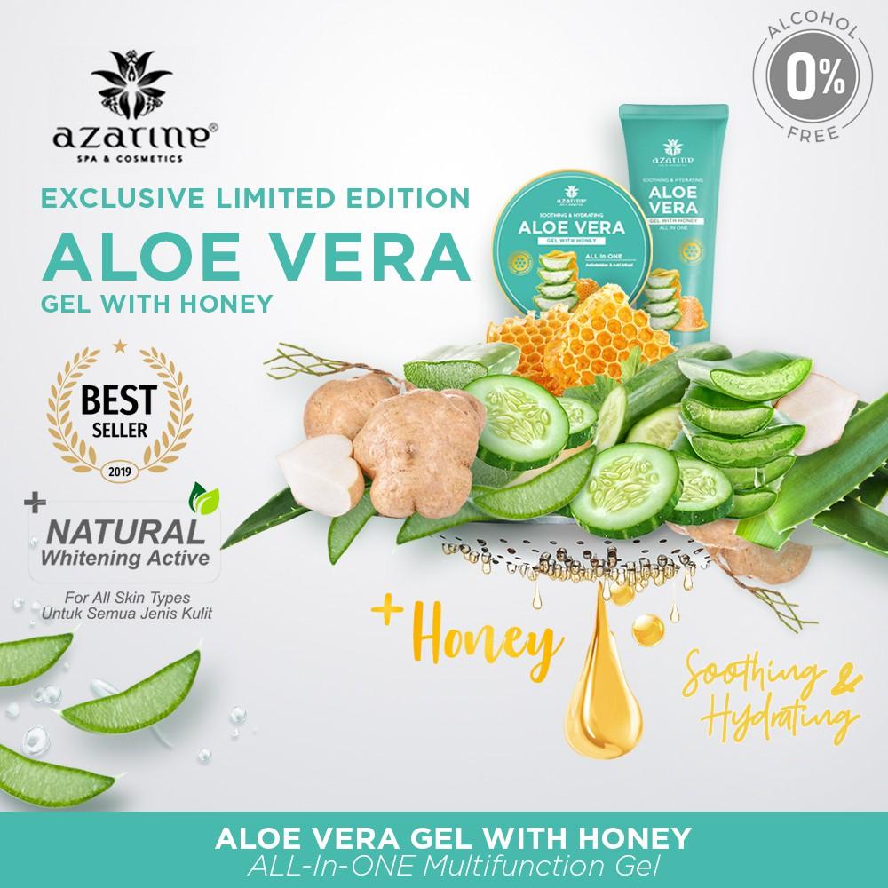 Azarine Soothing Hydrating Aloe Vera Gel With Honey 100 Ml Shopee Indonesia