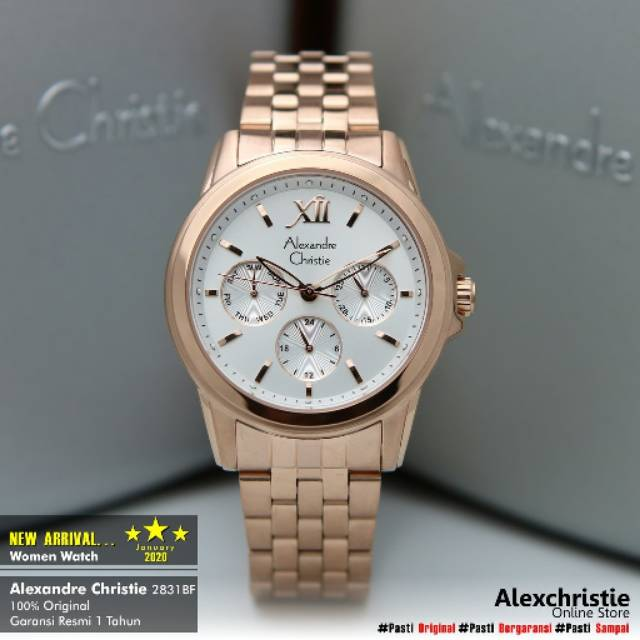 New January 2020 Jam Alexander Christie Wanita Original 2831bf Jam Alexandre Christie Original Shopee Indonesia