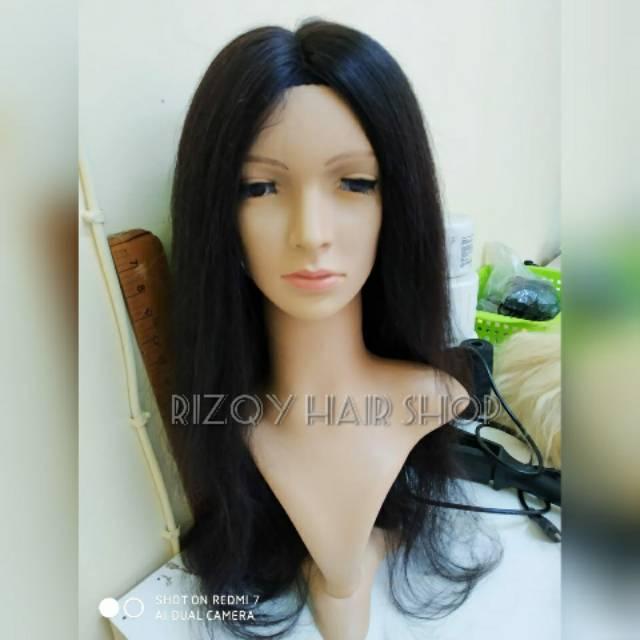 Wig human hair wig rambut asli lace wig