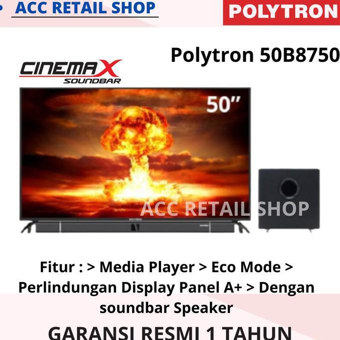 Led Tv Polytron 50Inch - 50B8750 Soundbar Terlaris