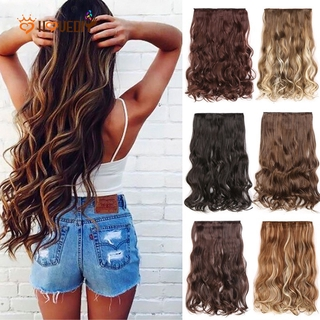 [Women Natural Synthetic Hair Extension] [Ladies Natural Looking Wavy Synthetic Hairpiece] thumbnail