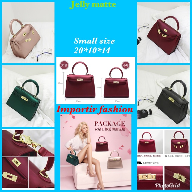 IF 🔥🔥🔥TAS JELLY MATTE FLOWERS IMPORT NEW ARRIVAL 2018💥BIG SIZE 22cm  KODE IF-0991  82ec714a77
