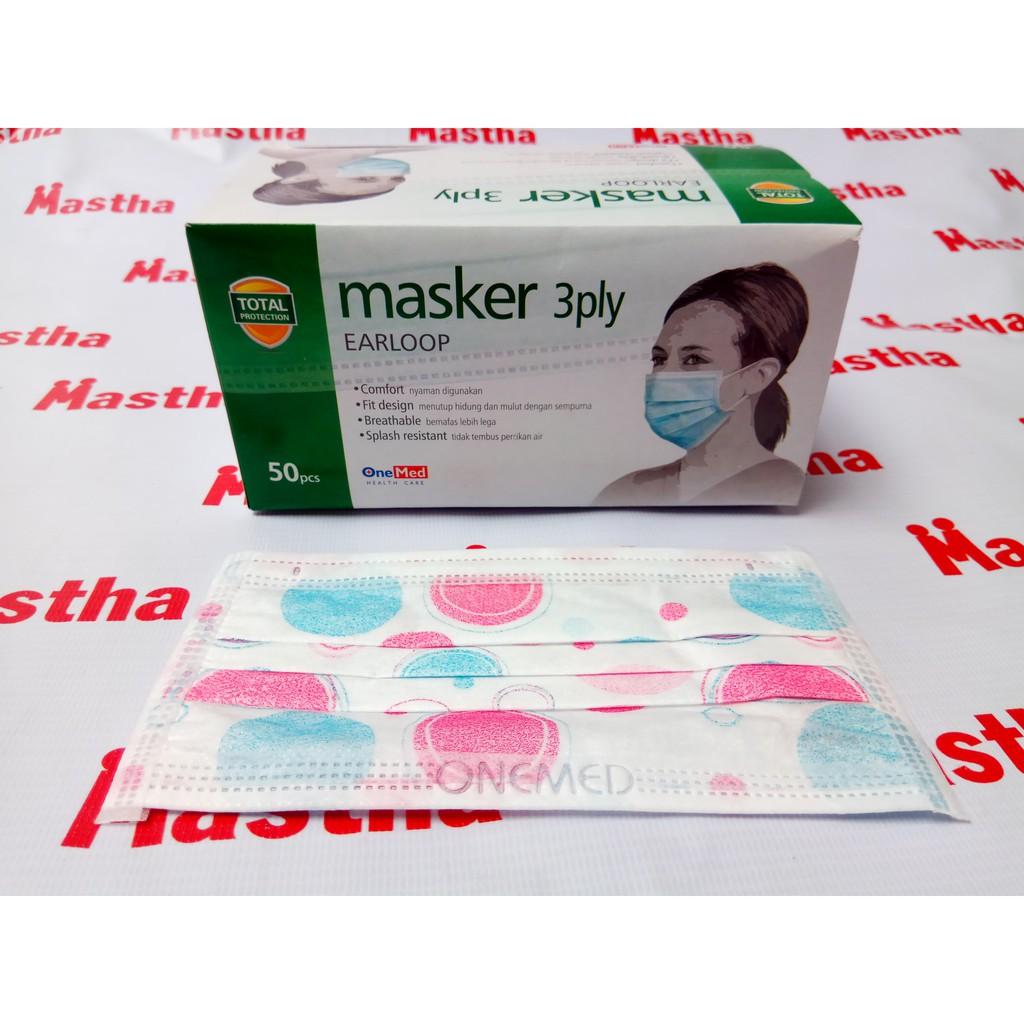 Masker Debu Karet Earloop Kuping Telinga Cantolan Motif Onemed Shopee Indonesia