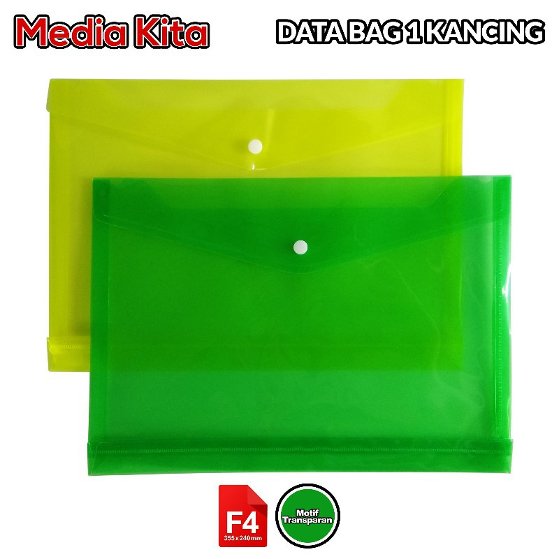 Media Kita MK DTBG 1kcg F4 Map Bag File Data Bag Portfolio File Folder Ordner ATK