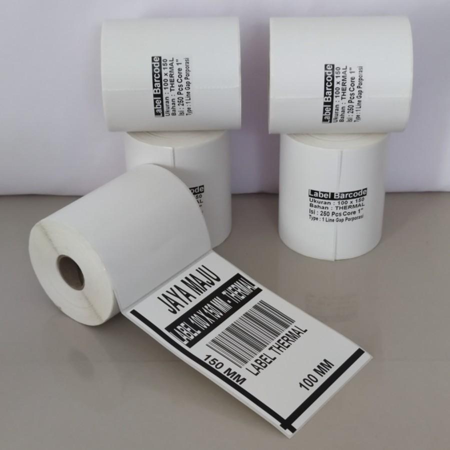 LABEL BARCODE THERMAL100X150 100 X 150  KERTAS STICKER LABEL THERMAL 100x150 100 x 150